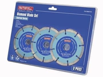 Contract Diamond Blades 115 x 22.2mm (Pack 3)